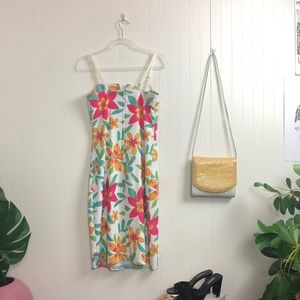 Vintage Dresses - '90s Floral Midi Dress >> SZ S-M